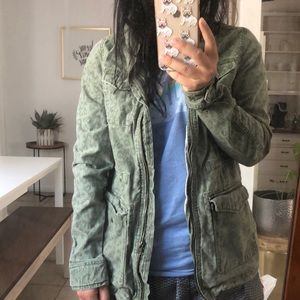 H&M cheetah print jacket